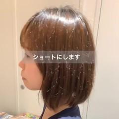 ショートボブ ショートパーマ ショート スタイリング動画 ヘアスタイルや髪型の写真・画像