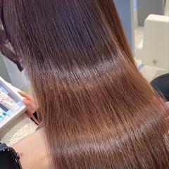ピンクベージュ イルミナカラー 透明感カラー 銀座美容室 ヘアスタイルや髪型の写真・画像