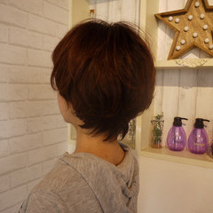 福岡市 ナチュラル ウルフカット ショート ヘアスタイルや髪型の写真・画像