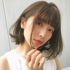 ミディアム ヘアアレンジ 涼しげ 大人かわいい ヘアスタイルや髪型の写真・画像