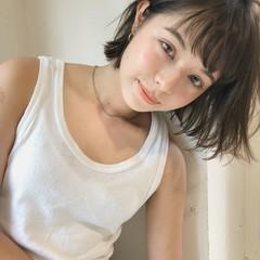 夏 ガーリー ヘアアレンジ 前髪あり ヘアスタイルや髪型の写真・画像