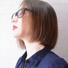 ボブ 髪質改善トリートメント 美髪 ナチュラル ヘアスタイルや髪型の写真・画像