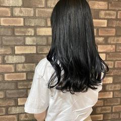 透明感 イメチェン 暗髪 セミロング ヘアスタイルや髪型の写真・画像