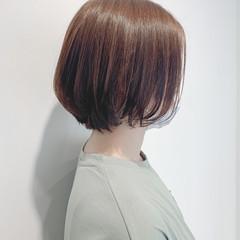 外ハネ 外ハネボブ ショートボブ ナチュラル ヘアスタイルや髪型の写真・画像