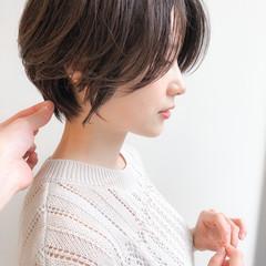 ショートヘア エレガント 40代 デート ヘアスタイルや髪型の写真・画像