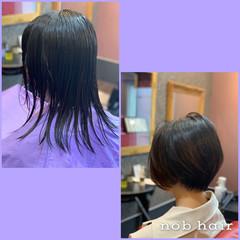 ナチュラル ショートボブ ボブ ショートヘア ヘアスタイルや髪型の写真・画像