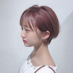 ミニボブ ショートヘア フェミニン おフェロ ヘアスタイルや髪型の写真・画像