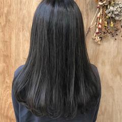 グラデーションカラー ナチュラル セミロング ブリーチ ヘアスタイルや髪型の写真・画像