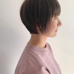 マッシュ ハイライト ショートボブ ショート ヘアスタイルや髪型の写真・画像