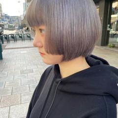 ブリーチオンカラー ボブ ブリーチ ハイトーン ヘアスタイルや髪型の写真・画像