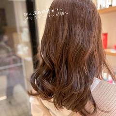 セミロング 透明感カラー ラベンダーピンク ブリーチなし ヘアスタイルや髪型の写真・画像