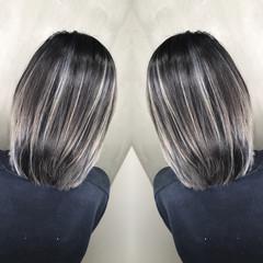 グラデーションカラー ボブ ストリート ハイライト ヘアスタイルや髪型の写真・画像