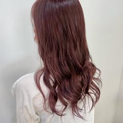 ピンクラベンダー エレガント ピンク ラベンダーピンク ヘアスタイルや髪型の写真・画像