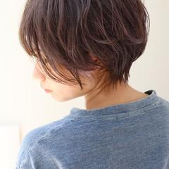 小顔ショート ショートヘア ナチュラル ショート ヘアスタイルや髪型の写真・画像