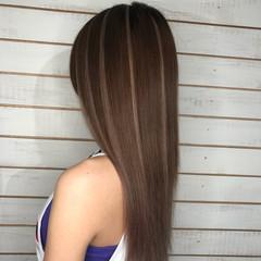 ハイライト ガーリー グラデーション ロング ヘアスタイルや髪型の写真・画像