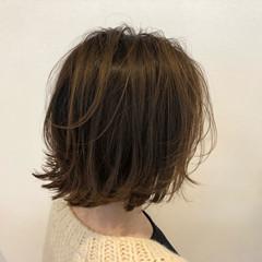ボブ アッシュ ナチュラル 女子力 ヘアスタイルや髪型の写真・画像