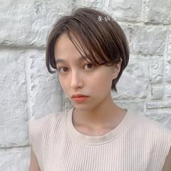 インナーカラー ショート ミニボブ ショートヘア ヘアスタイルや髪型の写真・画像