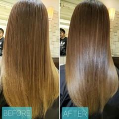 ロング 艶髪 髪質改善 ナチュラル ヘアスタイルや髪型の写真・画像
