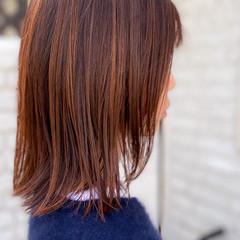 ミディアム ラベンダーピンク ピンクベージュ ベリーピンク ヘアスタイルや髪型の写真・画像