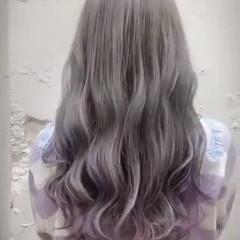 デザインカラー ロング ブリーチカラー インナーカラー ヘアスタイルや髪型の写真・画像