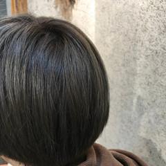 ボブ グレージュ アッシュグレー アッシュグレージュ ヘアスタイルや髪型の写真・画像