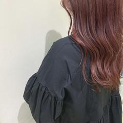 ナチュラル ピンクベージュ ピンク ピンクブラウン ヘアスタイルや髪型の写真・画像