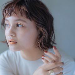 ショートヘア ガーリー ミニボブ ボブ ヘアスタイルや髪型の写真・画像