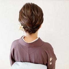 訪問着 着物 エレガント ボブ ヘアスタイルや髪型の写真・画像