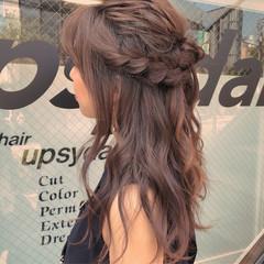 巻き髪 ロング ヘアアレンジ 透明感 ヘアスタイルや髪型の写真・画像