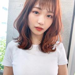 レイヤーカット インナーカラー イヤリングカラー 韓国風ヘアー ヘアスタイルや髪型の写真・画像
