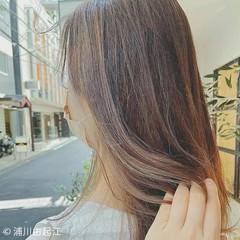 インナーカラー 外国人風カラー 透明感 ハイライト ヘアスタイルや髪型の写真・画像