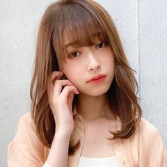 ミディアム 鎖骨ミディアム デジタルパーマ 小顔 ヘアスタイルや髪型の写真・画像