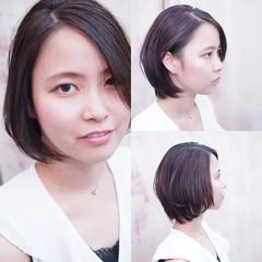 フェミニン 大人かわいい 大人女子 ハンサムショート ヘアスタイルや髪型の写真・画像