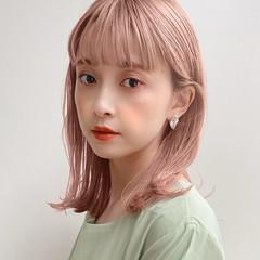 ナチュラル ミディアム 鎖骨ミディアム 前髪 ヘアスタイルや髪型の写真・画像