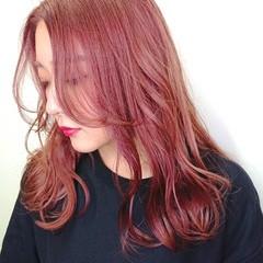 TOKIOトリートメント ピンクカラー ブリーチ ヘアスタイル ヘアスタイルや髪型の写真・画像