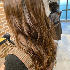 デジタルパーマ 小顔ヘア ロングヘア ロング ヘアスタイルや髪型の写真・画像