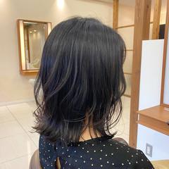 モテボブ 韓国風ヘアー ミディアム ミディアムレイヤー ヘアスタイルや髪型の写真・画像
