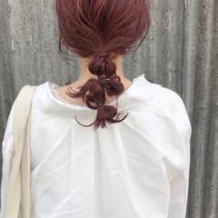カジュアル お呼ばれヘア お洒落 ガーリー ヘアスタイルや髪型の写真・画像