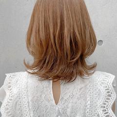 ミディアムレイヤー モテ髪 愛され アンニュイほつれヘア ヘアスタイルや髪型の写真・画像