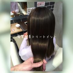 暗髪 ナチュラル ストレート セミロング ヘアスタイルや髪型の写真・画像