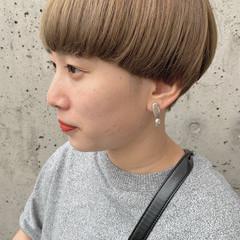 ショートマッシュ ショート マッシュショート ハイトーンカラー ヘアスタイルや髪型の写真・画像