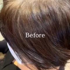 インナーカラー ハイライト ショートヘア エレガント ヘアスタイルや髪型の写真・画像