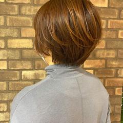 ハンサムショート ショート イルミナカラー 大人ショート ヘアスタイルや髪型の写真・画像