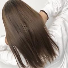 ロング ストレート 縮毛矯正 外国人風 ヘアスタイルや髪型の写真・画像