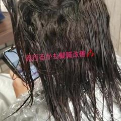 グラデーションカラー 大人かわいい ナチュラル 黒髪 ヘアスタイルや髪型の写真・画像