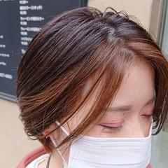 ハンサムショート ナチュラル デザインカラー 透明感 ヘアスタイルや髪型の写真・画像