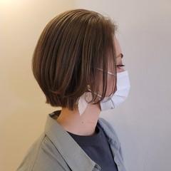 ショートボブ レイヤーカット ミニボブ ナチュラル ヘアスタイルや髪型の写真・画像