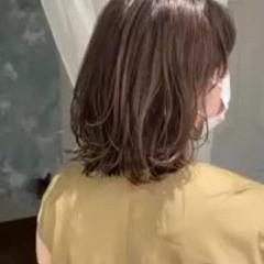 切りっぱなしボブ デートヘア 外国人風カラー ミディアム ヘアスタイルや髪型の写真・画像