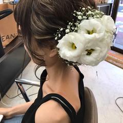セミロング ヘアメイク ナチュラル ヘアアレンジ ヘアスタイルや髪型の写真・画像