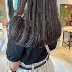 パーマ 暗髪 デジタルパーマ ナチュラル ヘアスタイルや髪型の写真・画像